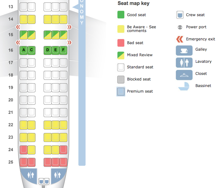 seatguru plane seating map
